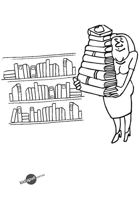 library coloring pages    print