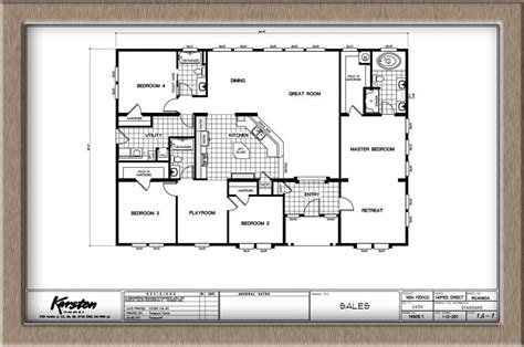 40x60 House Floor Plans by Homes Direct Karsten Hd8