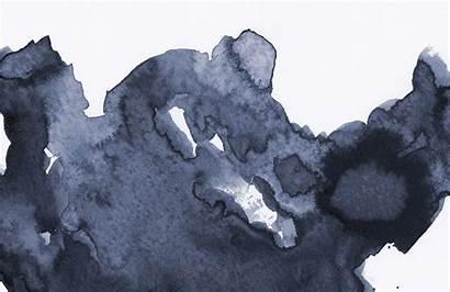 Watercolour Mural Watercolor Dark Deep Waves Wall