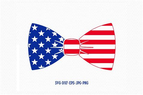 4th of july anchor svg cut files for silhouette and cricut. Patriotic Bow tie svg, Fourth of July SVG, 4th of July Svg ...