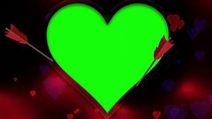 Green Screen Heart Frame - YouTube  Heart