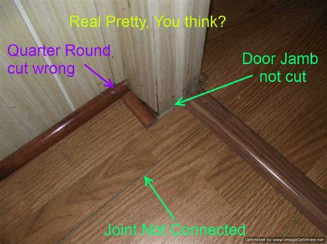 how to end laminate flooring at doorways bad laminate installation repair