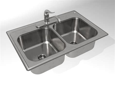 Kh004a00 Kitchen Sink Double Bowl 3d Model 3d Model