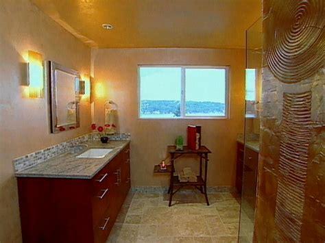making  white bathroom  colorful hgtv