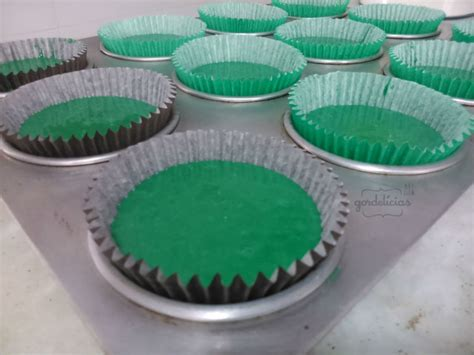 Cupcakes Veludo Verde (green Velvet) Gordelícias