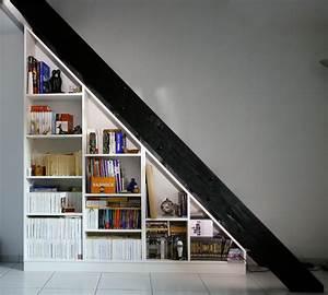 Escalier Sur Mesure Prix : biblioth que sous escalier sur mesure ~ Edinachiropracticcenter.com Idées de Décoration