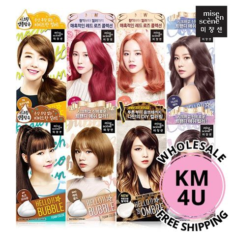 Coloring Hair Korean by Mise En Hello Hair Color Dye Shopee