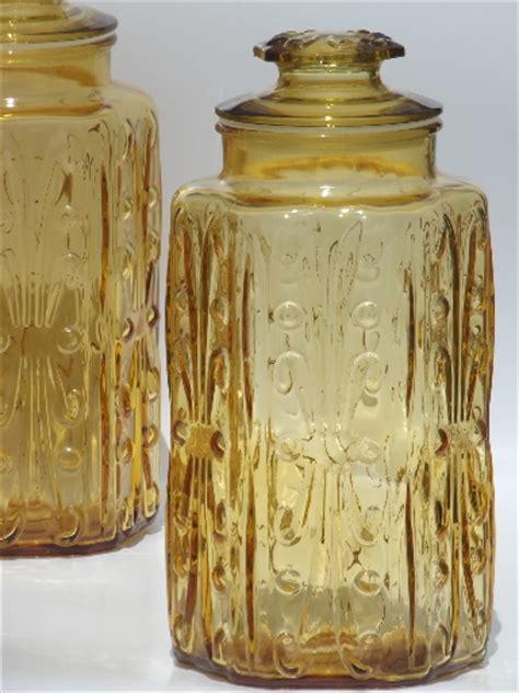 vintage glass canisters kitchen vintage glass canisters kitchen canister jars