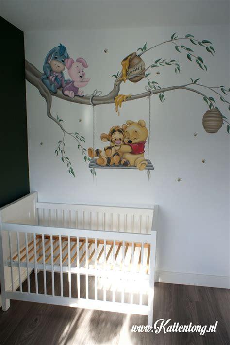 muurschildering baby pooh friends gemaakt door