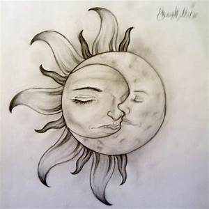 Sun and Moon. Nature. Drawings. Pictures. Drawings ideas ...