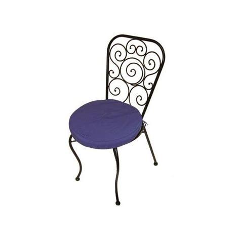 coussin chaise fer forgé chaise en fer forgé avec coussin bleu lot de 4 plantes et jardins