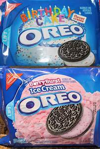 Chocolate Birthday Cake Oreo & Berry Burst Ice Cream Oreo ...