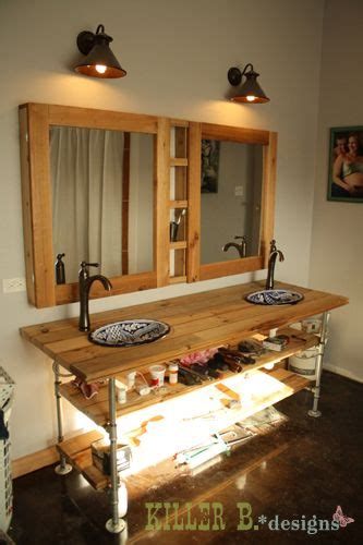 images  diy double vanity  pinterest pine