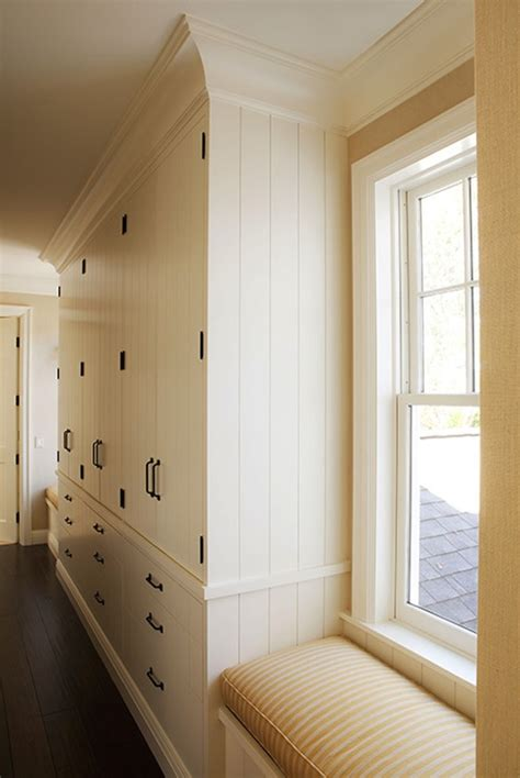 built  linen cabinets cottage laundry room wendy