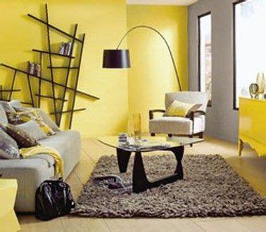 d 233 co salon couleur jaune gris taupe et noir deco yellow walls living room grey yellow