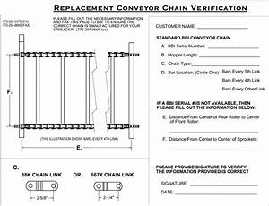 Replacement Conveyor Chain 667x Bars Every Other Link
