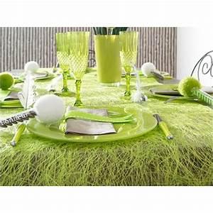 Chemin De Table Vert : accessoires pour d co de table de p ques nappes en fete ~ Teatrodelosmanantiales.com Idées de Décoration