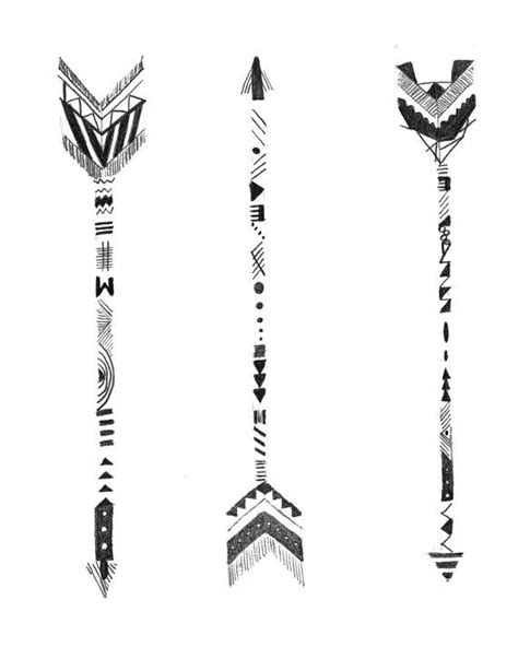 Hand Drawn Arrows by WillowandGrey on Etsy | Arrow drawing, Arrow tattoo design, Hand drawn arrows