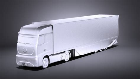 mercedes ft 2025 future truck with trailer vray 3d cgstudio
