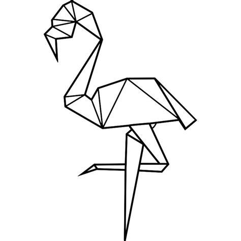 chambre style urbain sticker flamant en origami
