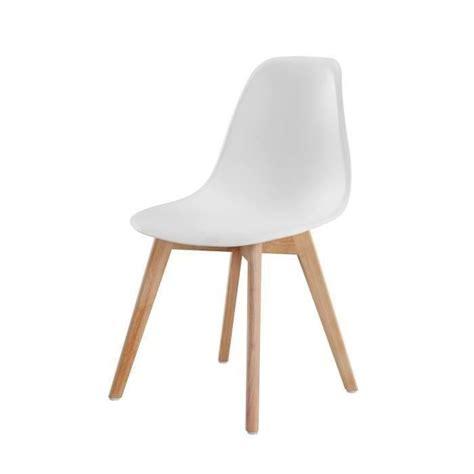 chaise de bain b b sacha chaise de salle à manger design scandinave blanc