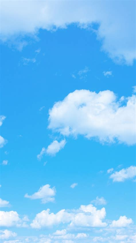 Blue Sky Backgrounds With A Tiny Clouds Desktop Background
