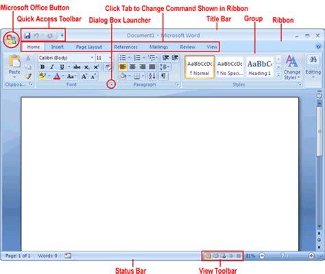 Windows Microsoft Word by Cara Mempergunakan Microsoft Word 2007 Computer