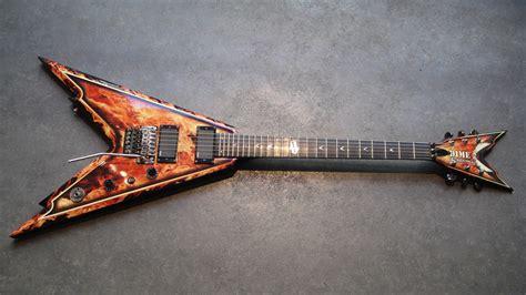 Dean Guitars Usa Dime Razorback V Explosion Image