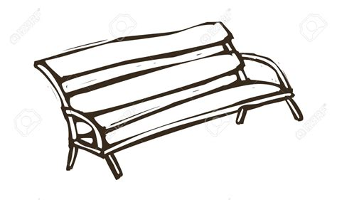 Black White Bench by Sitzbank Clipart 187 Clipart Station