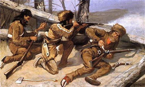 oil paintings    brush   redskins  american