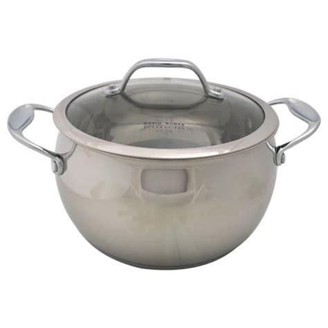 shop david burke gourmet pro splendor qt sauce pot  lid stainless steel  shipping