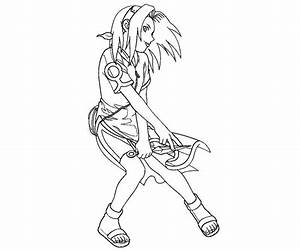 Sakura Haruno Coloring Pages Coloring Home