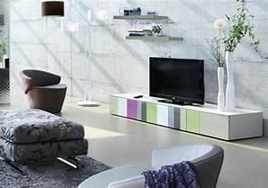 Meuble Tv Original : meuble tv original crozatier photo 2 15 les couleurs sont au rendez vous le style aussi ~ Teatrodelosmanantiales.com Idées de Décoration