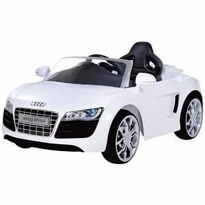 Voiture Electrique Enfant : audi r8 spydster blanc voiture lectrique enfant achat ~ Nature-et-papiers.com Idées de Décoration