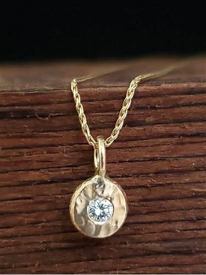 Handmade Gold Jewelry Diamond Necklace Pendant 14k