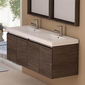 Meuble salle de bain 140 cm 4 portes modul39air for Meuble de salle de bain 140 cm