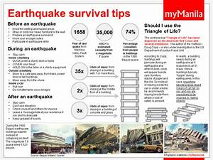 Survival Tips For Earthquakes images