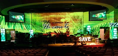 easter projected church stage design ideas