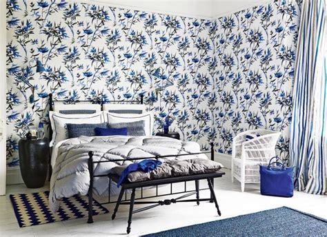 Blue Bedroom Wallpaper by Make Your Bedroom Gorgeous With Wallpaper The Room Edit