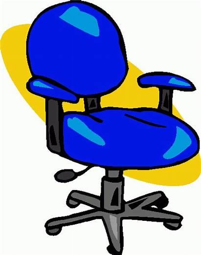 Chair Clip Clipart Office Cartoon Chairs Cliparts