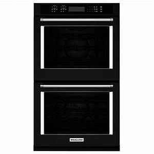 Kitchenaid 30 in double electric wall oven self cleaning for Kitchenaid double wall oven reviews