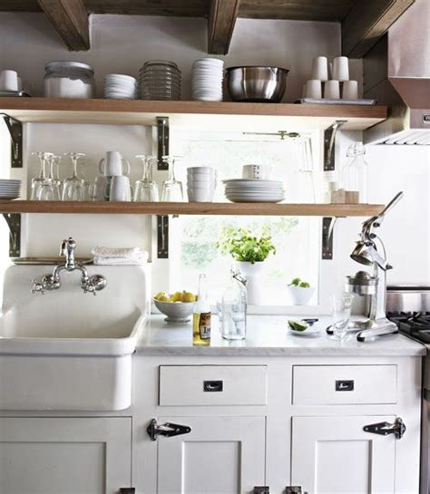 small farmhouse kitchens high back kitchen sinks muraca design newish kitchen pinterest open shelving kitchen