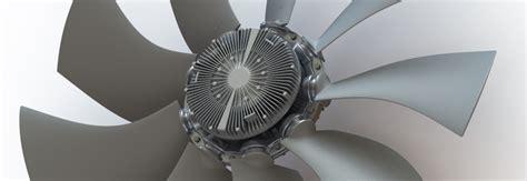 multi wing fan blades fan clutch fan drive electronically controlled viscous