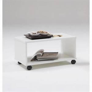 Table Basse Sur Roulette : tom table basse sur roulettes blanche achat vente ~ Melissatoandfro.com Idées de Décoration