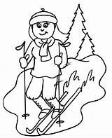 Skiing Coloring Downhill Clipart Ski Colouring Cliparts Skier Winter Sheets Printable Sheet Skiers Clip Printactivities Coloringpages Results Bible Popular sketch template
