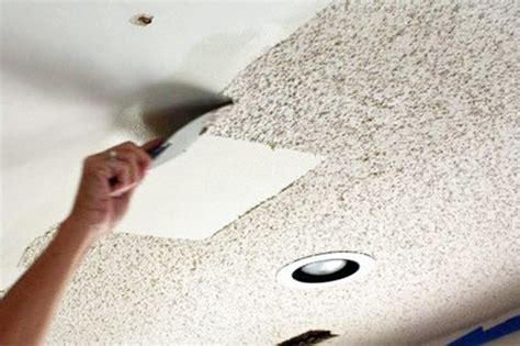 Remove Popcorn Ceilings by Lightkeepers Diy Warrior Remove A Popcorn Ceiling