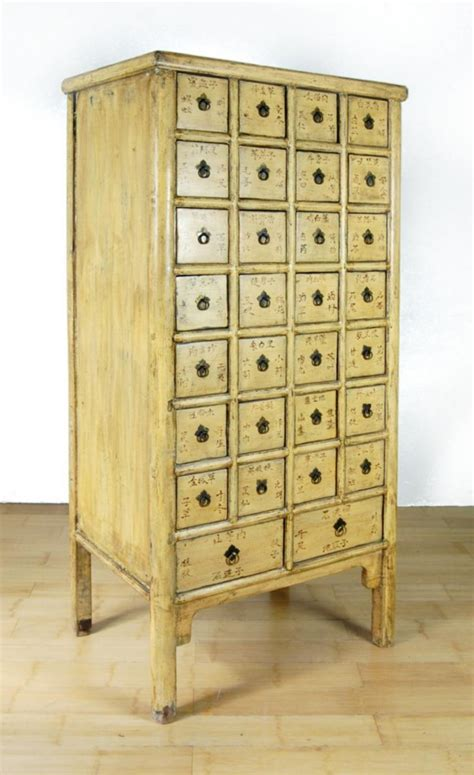 antique apothecary cabinet antique yellow apothecary cabinet 28 drawer herb
