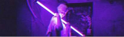 Aesthetic Header Purple Headers Neon Dark Bts