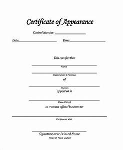 41 sample certificate forms With certificate of appearance template