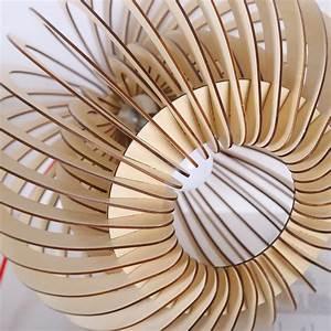 Luminaire Suspension Bois : suspension bois curve ~ Teatrodelosmanantiales.com Idées de Décoration